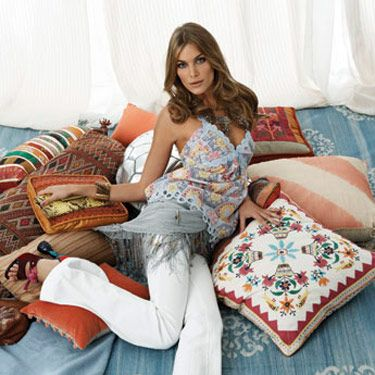 Camisole, Victoria's Secret Catalogue, $58&#x3B; jeans, J Brand Jeans, $178&#x3B; wrap, Echo, $68&#x3B; shoes, Prada&#x3B; necklaces, from top, Thalia Jewelry&#x3B; Amrita Sing&#x3B; bracelet, Kara Ross&#x3B; bag, R&Y Augousti, $525