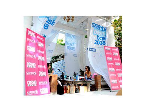 Cosmo Radio broadcasts live from Cosmopolitan's first-ever Bikini Bash.