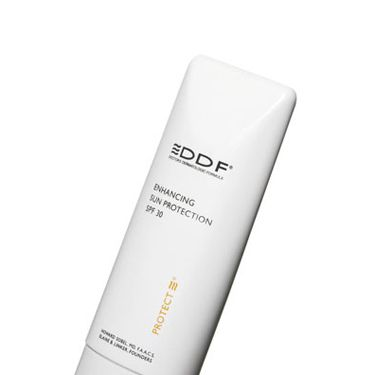 If you're blotchy, rub on SPF that adjusts to your skin tone to reduce redness and minimize pores. DDF Enhancing Sun Protection SPF 30, $30