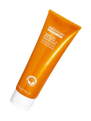 Oops -- got burned on spring break? This cream repairs past sun damage with a strong dose of lycopene. MD Skincare Powerful Sun Protection SPF 45 Sunscreen Cream, $42