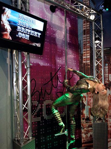 """Britney's wax figure is unveiled at Madame Tussauds in NYC, which starts the """"Bring Back Britney"""" campaign urging people to save her — from herself."""