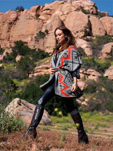 <b>Cinch a big blanket sweater  with a belt and pair it with leggings that fit like a  second skin.</b><br><br>  Sweater, French Connection,  $218; tunic, Joie, $208;   belt, Orciani, $235; silver  bangles, Me&Ro; bracelets,   Rosanne Pugliese; leggings,  American Apparel, $44;  socks, HUE by Tibi, $22;  boots, Frye, $398