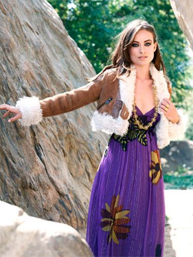 <b>Throw a short  shearling jacket  over your favorite  maxi dress to  effect a high-end  hippie vibe.</b><br><br>  Jacket, Etro; necklace, D&G,  $375; dress, Tibi, $440