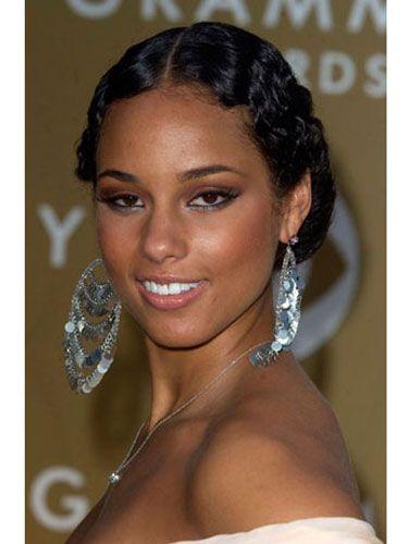 Peachy Alicia Keys Pictures Alicia Keys Hair Alicia Keys Braids Hairstyles For Women Draintrainus