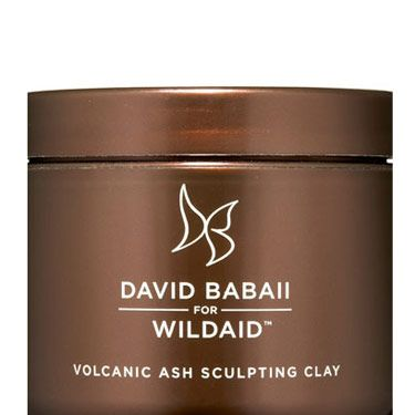 Instead of relying on cans of hair spray for volume, try a boosting clay with volcanic ash. David Babaii for Wildaid Volcanic Ash Sculpting Clay, $14.95.