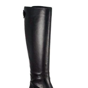 "Franco Sarto Leather Boots, $131.25 at <a href=""http://www.jildorshoes.com/product.cfm/hurl/Branzino_Black_Leather/flag=1/PI=52286"" target=""_blank"">jildorshoes.com.</a>"