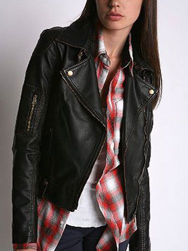 "Silence & Noise Motorcycle  Jacket, $128, available at <a href=""http://www.urbanoutfitters.com/urban/catalog/productdetail.jsp&#x3B;jsessionid=9649DC80B7205DCC4B4CF7E909E3106A.app11-node7?itemdescription=true&itemCount=60&id=14988992&parentid=W_APP_JACKETS&sortProperties=+product.marketingPriority,-product.startDate&navCount=261&navAction=poppushpush&color="" target=""_blank"">urbanoutfitters.com</a>."