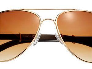 """I often wear my aviators.""<br><br>  Sunglasses, Shop Suey, $14,  shopsueyboutique.com"