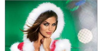 """We know it's not your usual nightie, but why not treat your guy to this once-a-year outfit? So long, silent night! <br /><a href=""""http://www.fredericks.com/product.asp?catalog%5Fname=Holiday2002&category%5Fname=Lingerie-Holiday&product%5Fid=92100&cookie%5Ftest=1"""" target=""""_blank"""">Buy it now</a>"""