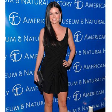 At the Museum of Natural History in NYC, Katie sizzles in an LBD.