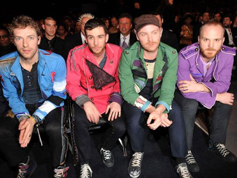 The Coldplay cuties were one of the big winners of the evening, taking away awards for Best Song of the Year and Best Rock Album.
