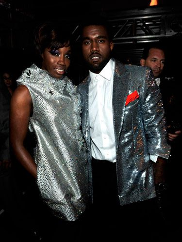 """Looking sharp in silver, the pair snapped up a Grammy for Best Rap/Sung Collaboration for """"American Boy."""""""