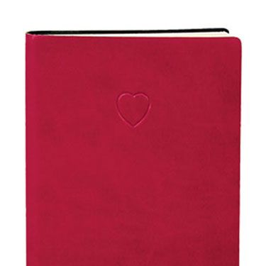 """This girly notebook is sure to elicit an """"awww!"""" from her. Of course, then you have to resign yourself to the fact that she'll likely use it to write mushy things about you. Available for $9.99 at <a href=""""http://www.bedbathandbeyond.com/product.asp?order_num=-1&SKU=16072400&RN=2003&"""" target=""""_blank"""">bedbathandbeyond.com</a>."""