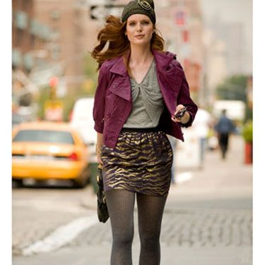 On a weekend afternoon, make a leather jacket part of an ensemble of pieces that coalesce into a casual boho look.