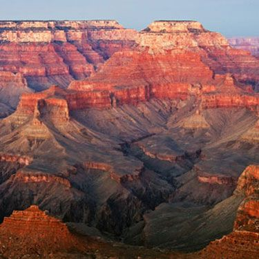 "Those who like rugged romance head to the Old West to hike or horseback ride in America's largest canyon. The truly adventurous can <a href=""http://www.grandcanyonranch.com/hotel+lodging.choices.htm"" target=""_blank"">camp under the stars</a> or stay in a tepee lit only by a lantern (outdoor nooky, anyone?). Cap off your visit with a hot-air balloon ride, allowing you to really take in the colors and sights of the area ($200 and up)."