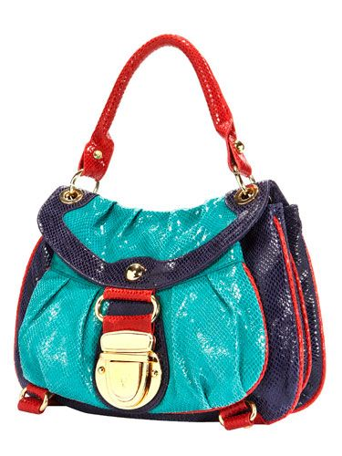 """If an item catches your eye, like a great bag, and you know you'll wear or use it a lot, then invest in it."" Bag, Hype, $225, <a href=""http://www.endless.com"" target=""_blank"">endless.com<a/>."