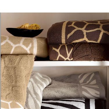 "Add some frisky fare to your bathroom with these ultra-plush towels from Horchow. Safari Towels, $12-18 each, available at <a href=""http://www.horchow.com/store/catalog/prod.jhtml?itemId=cprod61880013&ecid=HCCIGoogleFeed&003=5841029&010=H4LS5&ci_src=14110944&ci_sku=H4LS5"" target=_blank"">horchow.com</a>."