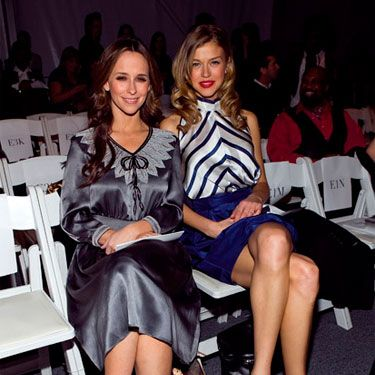 The ladies of <i>Ghost Whisperer</i> and <i>Friday Night Lights</i> were sitting pretty (front row) at the Verrier runway.