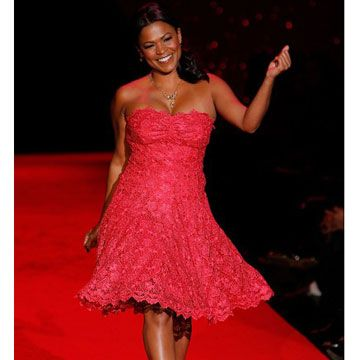 "Rocking a flirty frock, this <i>Boston Legal</i> actress made us want to say ""Be my valentine!"""