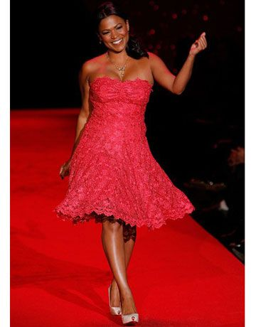 """Rocking a flirty frock, this <i>Boston Legal</i> actress made us want to say """"Be my valentine!"""""""