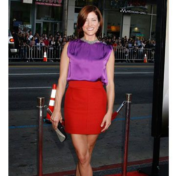 The <i>Private Practice</i> star paired two bold colors to create an outfit that is shockingly sexy.