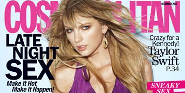 """Warning: Flipping through these covers gets addictive...! <br /><br /> At 23, <a href=""""http://www.cosmopolitan.com/celebrity/exclusive/taylor-swift-december-cover-cosmopolitan"""" target=""""_blank"""">Taylor Swift</a> has four hit albums, two fragrance deals, concerts that sell out in minutes, and she spends her spare time hanging out with America's royal family, the Kennedys. Who needs unicorns and rainbows, when reality is a fairy tale."""