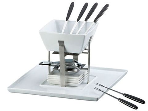 "Whether it's dinner or dessert, fondue is one of the sexiest dishes on the planet. 15-piece set, $49.95 at <a href=""http://www.crateandbarrel.com"" target=""_blank"">crateandbarrel.com </a>"