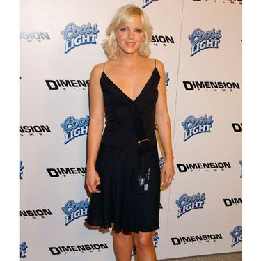 No longer a red carpet newbie, Anna opted for a flirty LBD and strappy sandals for the premiere of <i>Scary Movie 3.</i>