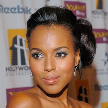 This off-to-the-side bun was one of the first of many creative updos for Kerry.