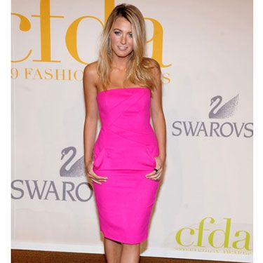 The Gossip Girl was smokin' hot in a pink Michael Kors strapless sheath at the CFDA Fashion Awards in New York City.