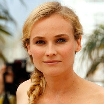 "Braids are still <a href=""http://www.cosmopolitan.com/style/beauty/beauty-blog/easy-braided-hairstyles"" target=""_blank"">huge this summer</a>. Here's how to make a fishtail version similar to  Diane Kruger's: Divide your hair in half and hold the left side in your left hand and the right side in your right hand. Pull a half-inch section of hair from outside the right side and add it to the inside of the left side. Repeat with a piece from the outside of the left side, adding it to the inside of the right side. Continue down to your ends, and secure with an elastic. Position the braid over your shoulder and tug out a few pieces for a breezy effect."