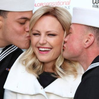 Seeing Navy: A double smooch for Malin Akerman. <br>2010</br>