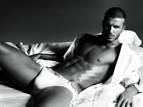 Becks took it <em>almost</em> all off (so close!) for his latest Emporio Armani ads, and we're pretty sure billboard versions caused minor traffic accidents across the country. Female drivers, you've been warned: Portuguese soccer star Cristiano Ronaldo will be taking over for Posh's hubby in spring 2010.