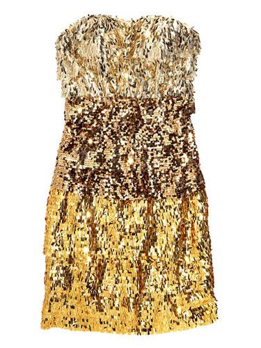 Bebe, $149, bebe.com<br /><br /> TIP: Keep your jewelry simple and understated with a dress like this. Anything too glitzy and you could look like a disco ball!