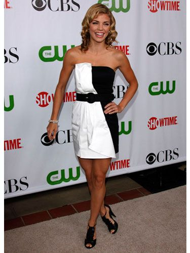 What's black and white and gorgeous all over? AnnaLynne in Alice + Olivia!