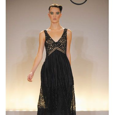 """""""This elegant eveningwear exudes luxe, young glamour and combines modernity and femininity that expresses a new freedom of spirit."""" <i>—Collette Dinnigan</i><br /><br /><b>Tip:</b> Long and feminine doesn't have to be frumpy or stuffy. Just stick with something that is fitted and detailed as well as flowing and flirty."""