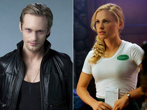 Now that she has tasted his blood (um, gross) it's only a matter of time before these sultry stars rock his coffin. Once we watch the Nordic vampire take our sweet little Sookie, we can all die happy.