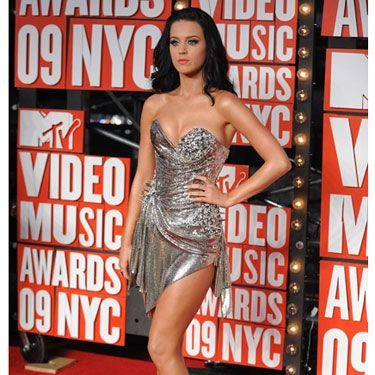 The always adorable singer rocked the silver trend in a very tiny minidress.