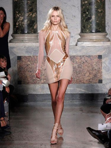 Pucci pays homage to sci-fi sex symbol Barbarella with this slinky little dress. You can also wear a short frock like this as a tunic over leggings or skinny pants.