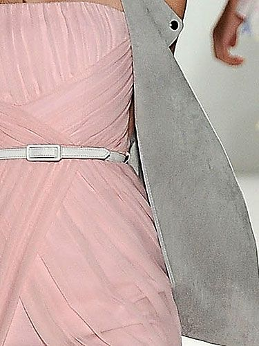 """""""The combination of feminine pink and a cool shade of misty gray is an unexpected pairing that feels fresh."""" —Shaun Kearney<br /><br /> <b>Tip:</b> Gray is very hot right now. Invest in a few pieces in this hue and pair them with pastel-colored clothing or jeans and a white tee."""