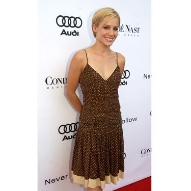 Polka dots and pixie-like hair were this budding starlet's look of choice at an event in Beverly Hills.