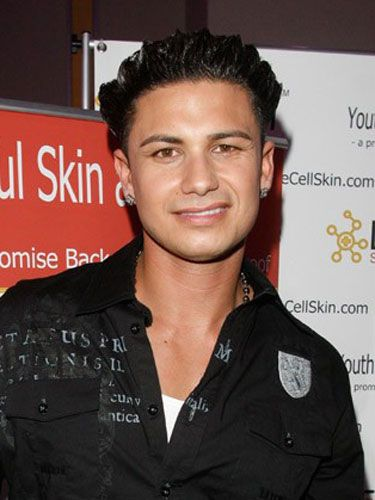 """<strong>Winner:</strong> DJ Pauly D (<i>Jersey Shore</i>)<br /> Careful blow-drying technique, tons of hair spray, and a boatload of hair gel come together to craft this <i>Jersey Shore</i> stud's impenetrable coif that refuses to succumb to steamy hot tubs, long days at the beach, and hours of macking on """"guidettes."""" <br /><br /> <strong>Close Second:</strong> Michael Cera<br /> The adorably awkward <i>Youth in Revolt</i> star cracked us up when he got a hair makeover courtesy of Pauly D. But we were seriously impressed when his new 'do survived a full day of chilling with the rowdy <i>Jersey Shore</i> cast."""
