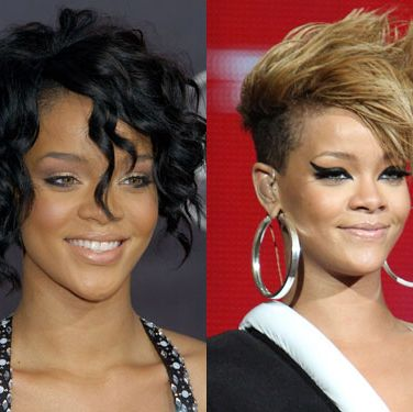 RiRi's never been timid about experimenting with her hair—it's been long, supershort, asymmetrical, streaked, bobbed. And as the smoke from the Chris Brown firestorm started to clear in mid-2009, she emerged with a style that's usually reserved for punk dudes and assorted <i>America's Next Top Model</i> contestants: a Mohawk. Some said she was channeling Woody Woodpecker, but we think they're just jealous of her seriously badass do.