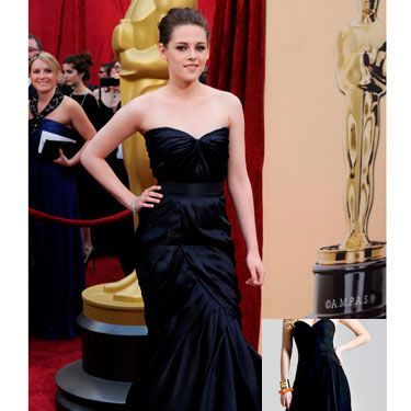 <p>For her first Oscars, Kristen rocked a sophisticated mermaid gown that took the <i>Twilight</i> star from teen sensation to glamour queen. The sweetheart neckline and figure-flattering color make for a dress that's elegant enough for a black tie event and sexy enough to keep all eyes on you.</p>