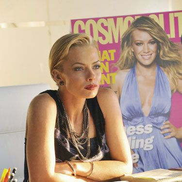 Blond, single, and take-charge, Jaime Pressly did an amazing job impersonating Cosmo's Editor-in-Chief.