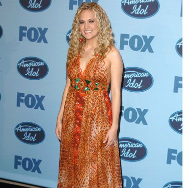 Carrie's voice was so freaking impressive that she could have rocked just about any style — including this animal print dress and crimped hair — and America still would have voted her winner of Season 4.