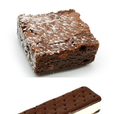 Brownie: 410 calories, 24 grams fat<br />
