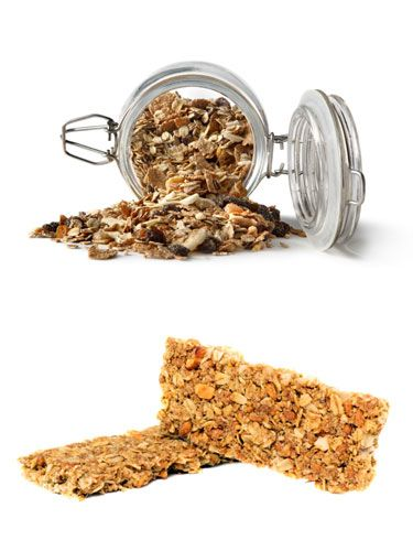 Granola: 230 calories/10 grams fat<br /> Granola bar: 120 calories/4 grams fat<br /><br /> <strong>Winner: Granola bar</strong><br /><br /> Granola is in the cereal aisle, sure, so you'd never imagine just how loaded with sugar most brands are. Granola bars pack the same sugar, but at least the portion size is smaller so you consume fewer calories and fat.