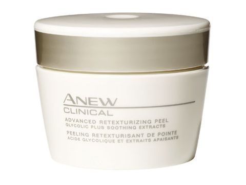 "<p>YOU SEE : A dark, enlarged pore</p> <p>REACH FOR: <a href=""http://shop.avon.com/shop/product.aspx?newdept=&s=frooglesearch&c=google&otc=ANEWCLINICALAdvancedRetexturizingPeel&bnd=&pf_id=33984&level1_id=300&level2_id=302&pdept_id=324&ym_mid=&ym_rid="" target=""_blank"">Avon Anew Clinical Advanced Retexturizing Peel</a>, $25. Glycolic acid clears away oil, which has been oxidized by air. Less oil means a lighter, smaller-looking pore. </p>"