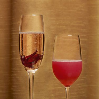 <p>2 oz. white rum<br />½ oz. St-Germain (at most liquor stores) <br />1 Tbsp. strawberry jam<br />Champagne for float</p><p>In a mixing glass, combine all ingredients except champagne.  Shake and strain into a champagne glass, then top with a splash of bubbles.  </p>